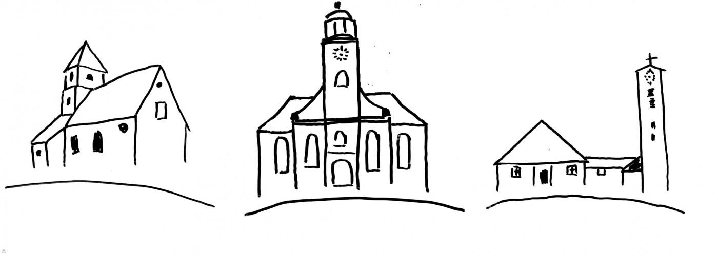 Alle Kirchen gezeichnet